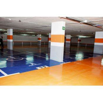 peinturoll réalisations peintures Isaval parking